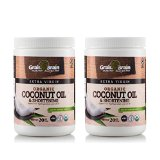 Grain Brain Extra Virgin Coconut Oil, 20 oz (Pack of 2) Unrefined Cold Pressed for Cooking Baking Frying, Skin and Hair. Health and Beauty. Great Value Pack