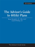 This authoritative but user-friendly Guide covers how 401(k) Plans are established and administered, as well as:» How employers and employees participate» Complying with all regulatory requirements» Handling multiple employers, plan mergers, an plan terminations» Rules for withdrawing money» What to do when a plan is broken—entire chapter covers the NEW correction procedures from the IRS and the DOL!The Advisor's Guide to 401(k) Plans also puts all of this right at your fingertips:» Planning Tips» Rules of the Road» Design Checklist» Plan Loan Checklist» QDRO Checklist» Sample Documents» Extensive Appendices» And more!Our highly respected authors—Bruce A