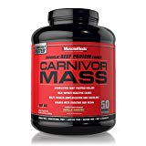 MuscleMeds Carnivor Mass Diet Supplement, Vanilla Caramel, 5.93 Pound