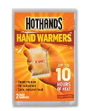 HotHands HandWarmers (Up to 10 Hours Heat)- 30 Pairs Plus 4-Free Cura-Heat Back Patches