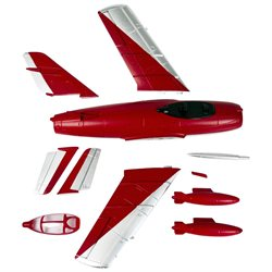Skyangel Airframe for the Mig-15 50mm EDF RC Jet - Red