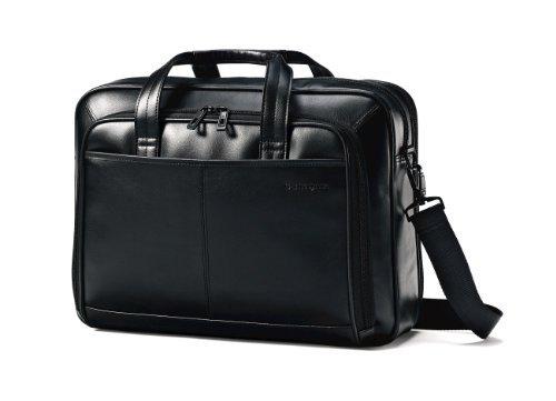 Samsonite Leather Toploader Briefcase (Black)