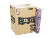 SOLO Cup Company 412SMJ8000PK Hot Cups, Symphony Design, 12 oz., Beige, 50/Pack Type: Cups & Lids