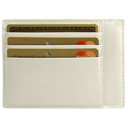 LUCRIN - Credit Card and Bill Holder - Smooth Cow Leather - Off-White