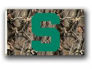 Bsi Products 95429 3 Ft. X 5 Ft. Flag W/Grommets - Realtree Camo Background - Michigan State Spartans