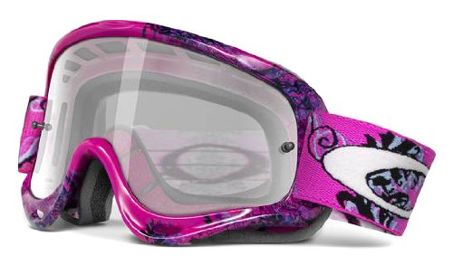 Oakley XS O-Frame MX Goggles with Lens (Pink Ornamental, One Size)