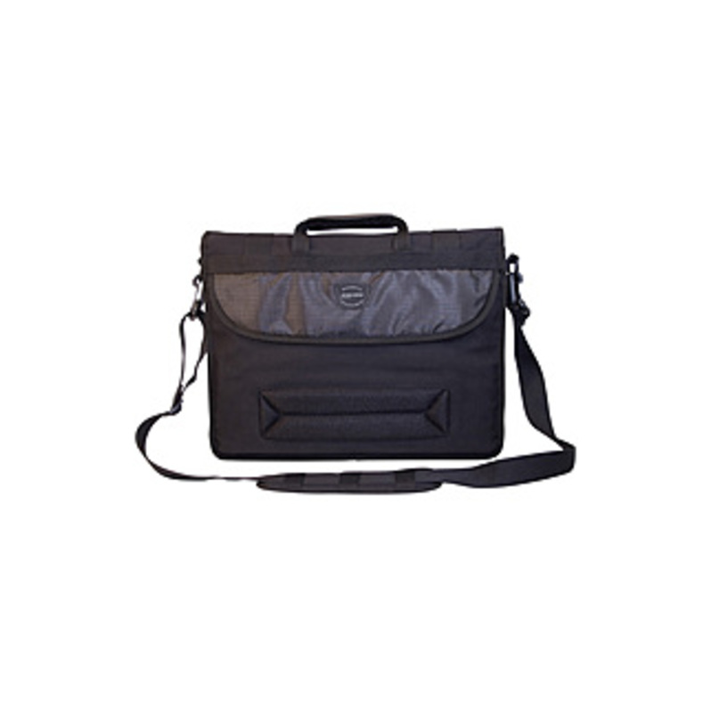 "Mobile Edge 17.3"" Eco-friendly Canvas Messenger Bag - 17.3"" Screen Support - 13"" X 17.5"" X 4.25"" - Cotton Canvas - Black"