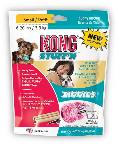 KONG Puppy Stuff'N Ziggies Small Dog Treat, 7-Ounce, 12-Pack