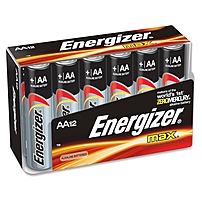 Energizer Aa-size Alkaline Battery Pack - 2850 Mah - Aa - Alkaline - 1.5 V Dc - 12 / Pack E91fp-12