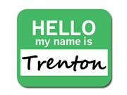 Trenton Hello My Name Is Mousepad Mouse Pad
