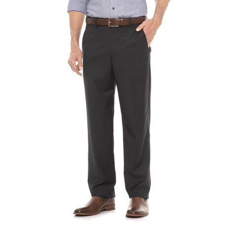 Flat Front Adjustable Waistband Pants (for Men)