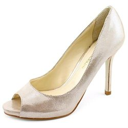Enzo Angiolini Maiven Womens Silver Pumps Heels Shoes New/Display