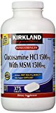 Kirkland Signature Extra Strength Glucosamine HCI 1500mg, With MSM 1500 mg,  375-Count  Tablets