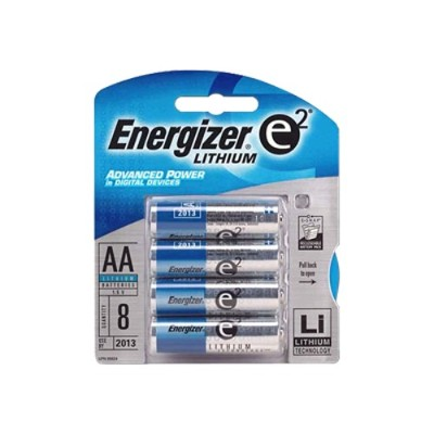 Energizer L91bp-8 Ultimate Lithium - Battery 8 X Aa Type Li 2900 Mah - Silver