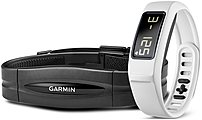 Garmin Vivofit 2 010-01503-31 Activity Tracker Bundle With Heart Rate Monitor - White