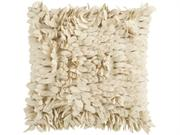 22 Confetti Petals Khaki Feather-Like Decorative Down Throw Pillow