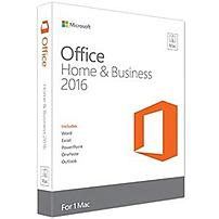 Microsoft Office 2016 Home & Student - 1 Mac - Non-commercial, Medialess - Office Suite Box - Intel-based Mac - English Gza-00850