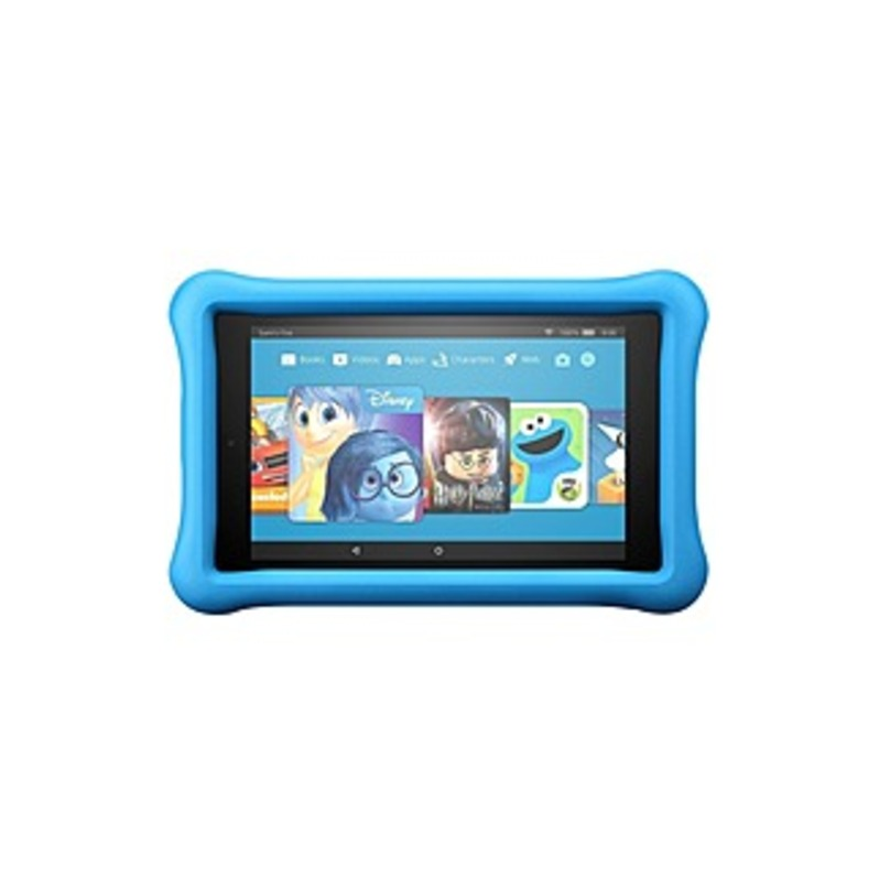 "Amazon All-new Fire 7 Kids Edition Tablet, 7"" Display, 16 Gb, Blue Kid-proof Case - Blue, Black - 16 Gb - 1 Gb - Quad-core (4 Core) 1.30 Ghz - Fire Os"