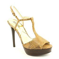 Michael Kors Felicia T Strap Womens Tan Open Toe Leather New/Display