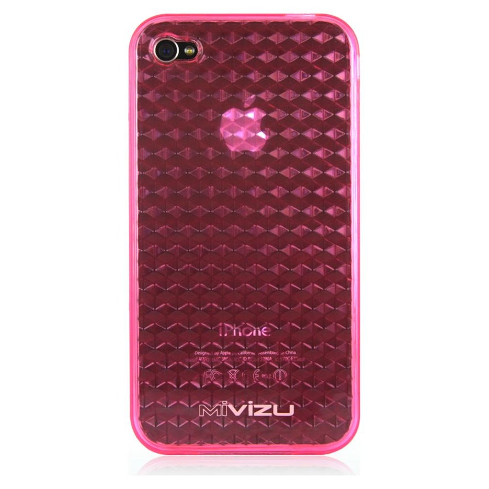 Pink iPhone 4 Hexagon Design Tpu Skin