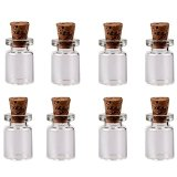 Wowlife  50pcs 0.5ml Vials Clear Glass Bottles with Corks Miniature Glass Bottle with Cork Empty Sample Jars Small 18x10mm