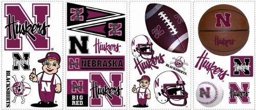 Nebraska Cornhuskers Kids Removable Wall Graphics Stickers
