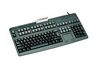 Cherry Electrical G80-8113lraus-2 Keyboard With 3 Track Msr Touchp Barcode - Ps/2 - Black
