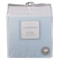 Jersey Fitted Crib Sheet -- Blue By Living Textiles