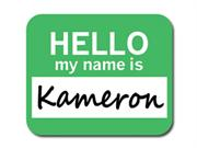 Kameron Hello My Name Is Mousepad Mouse Pad