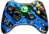 BLUE SPLATTER 5000   Modded Controller Xbox 360 Hydro Dipped Mod with Rapid Fire / Jitter / Quick Scope / Sniper Breath / Drop Shot / Jump Shot / Auto Aim / Quick Aim / Burst / Akimbo / Mimic / Adjustable / Adjustable Burst / Auto Burst / Dual Trigger and more! For COD Ghosts / MW1 / MW2 / MW3 / Black Ops 1 / Black Ops 2 / WAW / Gears of War Series / Halo Series / GTA / BF and more! 5500