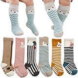 Baby Kids Knee High Socks Girl Boy Newborn Toddler Cartoon Animal Stocking 6 Pack