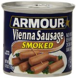Armour Vienna Sausages, Smoked, 4.75-Ounce Cans (Pack of 24)