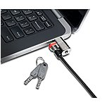 Kensington K67974ww Clicksafe Keyed Lock For Dell Laptops And Tablets - Silver - Carbon Steel - For Notebook / Tablet