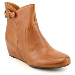 Franco Sarto Irvine Womens Brown Leather Booties Shoes