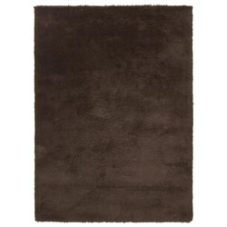 6 x 6 Calming Spectrum Seal Brown Hand Woven Ultra Plush Area Throw Rug Corner Sample