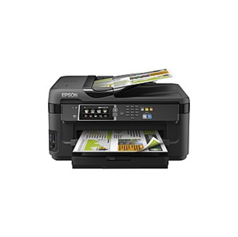 Epson Workforce 7610 Inkjet Multifunction Printer - Color - Photo Print - Desktop - Copier/fax/printer/scanner - 32 Ppm Mono/20 Ppm Color Print - 18 P
