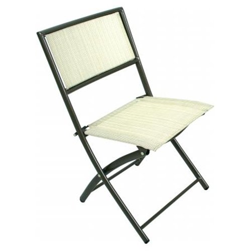 Jiaxing Hero Import And Export Brown Steel Folding Chair HJ-C-352BRN - Pack of 2