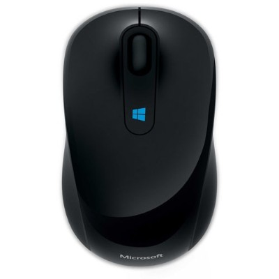 Microsoft 43u-00001 Sculpt Mobile Mouse - Mouse - Optical - 3 Buttons - Wireless - 2.4 Ghz - Usb Wireless Receiver - Black