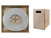 Cable Wholesale Cat6, Utp, Bulk Cable, Solid, Plenum, 23 Awg, Gray, 1000 Ft