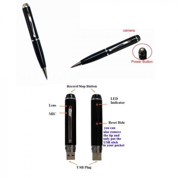 Securix Motion Detection Smart Spy Pen Camcorder (8GB) - by Qualimax - KC256L8