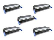 Cisinks ? 5 Pack Black Remanufactured Hp Hewlett-packard Cb400a Cb400 400a Laser Toner Cartridge For Color Laserjet Cp4005 Series, Color Laserjet Cp4005dn, Colo