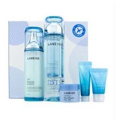 New Basic Duo Set (Light Travel Exclusive): Skin Refiner   Emulsion   Sleeping Pack   Essence   Moisture Cream - 5pcs