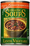 Amy's Light in Sodium Organic Soups, Lentil Vegetable, 14.5 Ounce (Pack of 6)