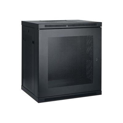 Tripplite Srw12u 12u Wall Mount Rack Enclosure Server Cabinet W/ Door & Side Panels - Rack - Cabinet - Wall Mountable - Black - 12u - 19