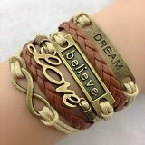 Europe and the United States to restore ancient ways leather bracelet LOVE dreams