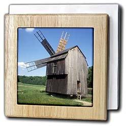 Romania, Transylvania, Sibiu, windmill - EU24 EGI0028 - Edward & Susan Ginsberg - 6 Inch Tile Napkin Holder