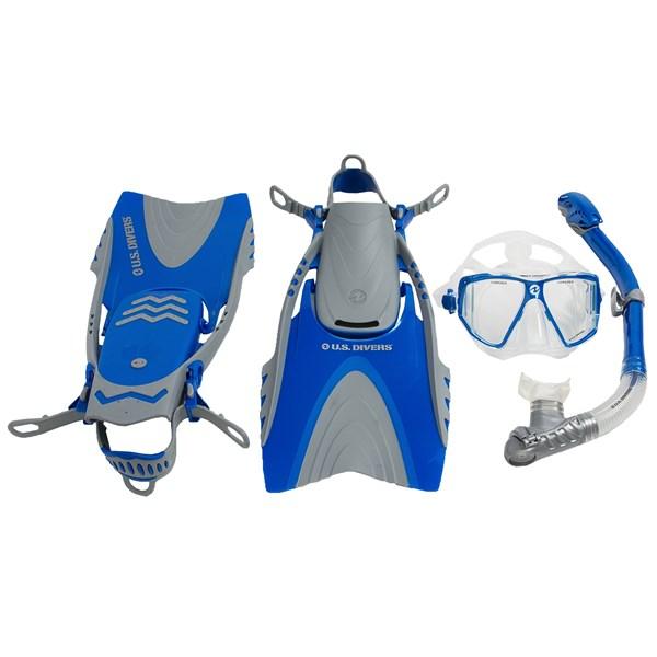 U.S. Divers 3-Piece Dive Set - Lux Mask, Mantis Snorkel, Mystra Fins