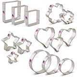 Basic Cookie Cutters Set - 14 piece - Ann Clark - Stars, Hearts, Circles, Flowers, Squares