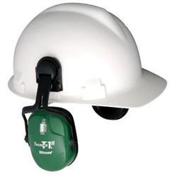 Thunder T1H Light Green Metal Helmet Mount Noise Blocking Earmuffs (23 NRR)