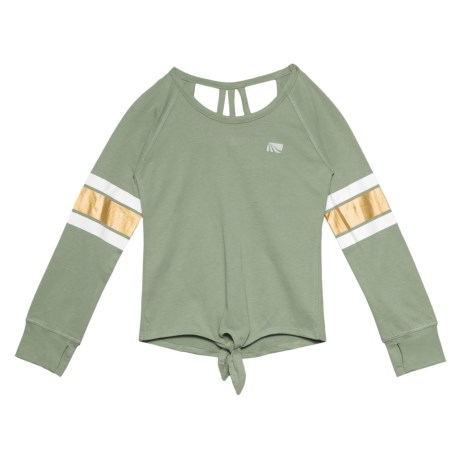 Knot Hem Shirt - Long Sleeve (for Big Girls)